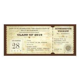 vintage typography graduation tickets - invites