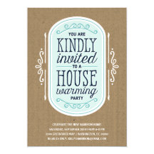 Vintage Typography | Housewarming Pary Card
