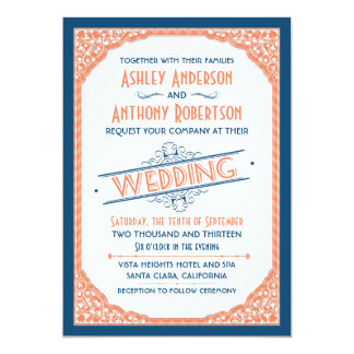 Shop Zazzle's selection of typography wedding invitations for your special day!