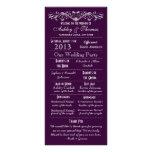 Vintage Typography Purple Wedding Programs V2 Full Color Rack Card
