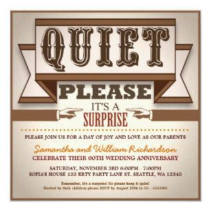 surprise anniversary invitations announcements zazzle uk