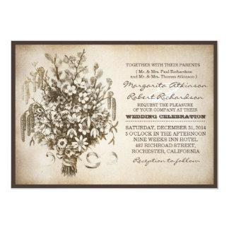 vintage typography unique wedding invitations