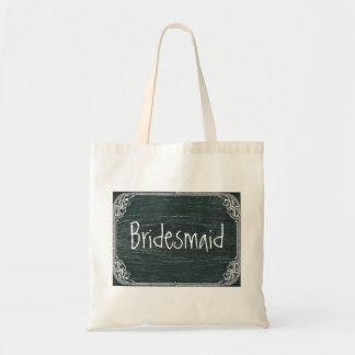 Vintage Typography wedding chalkboard bridesmaid Bag
