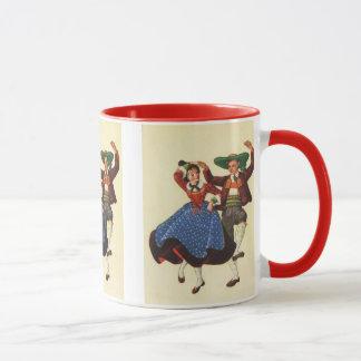 Vintage Tyrolean dancers, Austria Mug