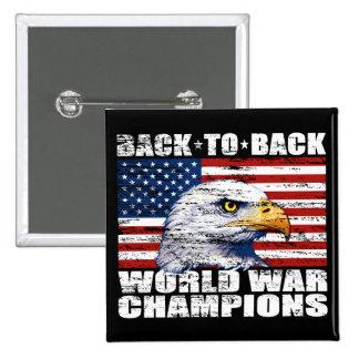 Vintage U.S. Flag & Eagle World War Champions Button