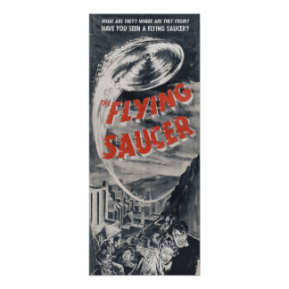 Vintage UFO poster - Have you seen a Flying Saucer