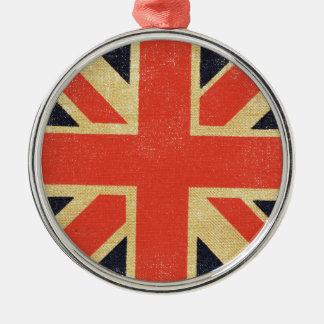 Vintage UK Flag Christmas Ornament