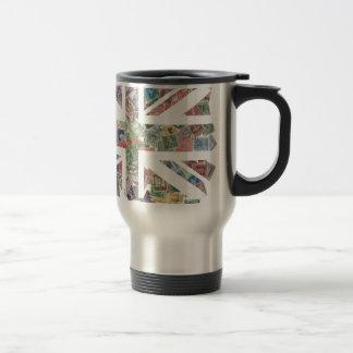 Vintage UK Flag Postage Stamp pattern Mugs