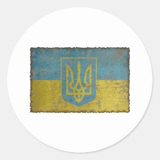 Vintage Ukraine Classic Round Sticker