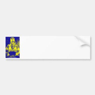Vintage Ukrainian Flag Woman Bumper Sticker