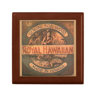 Vintage Ukulele Label Gift Box