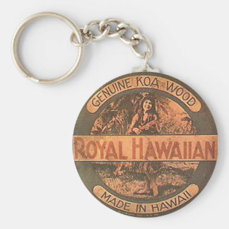 Vintage Ukulele Label Keychain