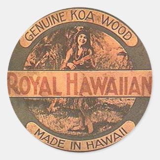 Vintage Ukulele Lablel Sticker