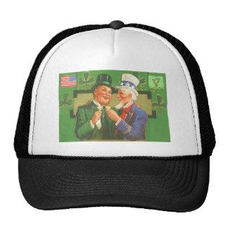 Vintage Uncle Sam Leprechaun St Patrick s Day Card Trucker Hat
