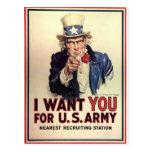 Vintage Uncle Sam Postcard