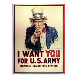 Vintage Uncle Sam Postcard