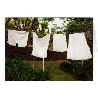Vintage underwear laundry card