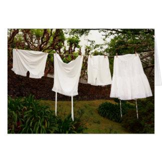 Vintage underwear laundry greeting card