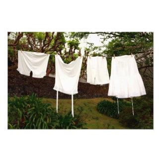 Vintage underwear laundry photo