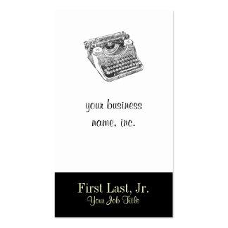 Vintage Underwood Distressed Typewriter Pack Of Standard Business Cards