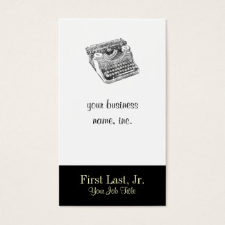 Vintage Underwood Distressed Typewriter Business Card