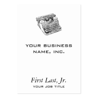 Vintage Underwood Distressed Typewriter Pack Of Chubby Business Cards