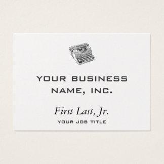 Vintage Underwood Distressed Typewriter Business Card