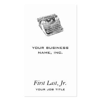 Vintage Underwood Distressed Typewriter Business Card Template