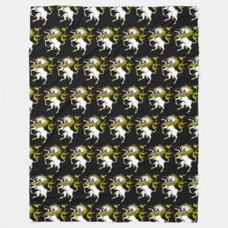 Vintage Unicorn Black TP Fleece Blanket