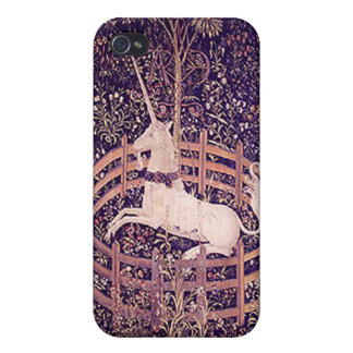 Vintage Unicorn In Captivity Tapestry  Custom iPho iPhone 4 Cases