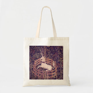 Vintage Unicorn In Captivity Tapestry Budget Tote Bag