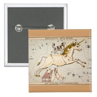 Vintage Unicorn Star Constellation Map Pinback Button