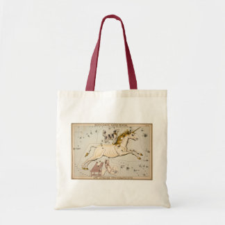 Vintage Unicorn Star Constellation  Map Budget Tote Bag