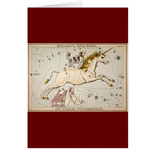 Vintage Unicorn Star Constellation  Map Cards