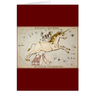Vintage Unicorn Star Constellation  Map Greeting Card