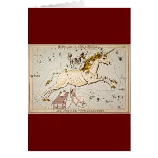 Vintage Unicorn Star Constellation  Map Greeting Card