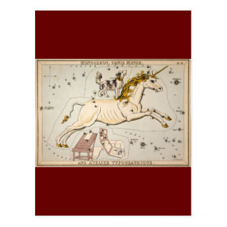 Vintage Unicorn Star Constellation Map Post Cards