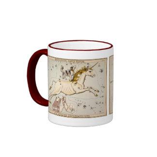 Vintage Unicorn Star Constellation  Map Ringer Mug