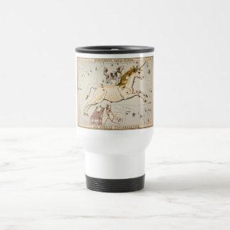 Vintage Unicorn Star Constellation  Map Stainless Steel Travel Mug