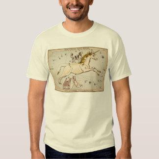 Vintage Unicorn Star Constellation  Map T Shirts
