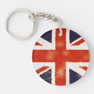 Vintage Union Jack Acrylic Round Keychain