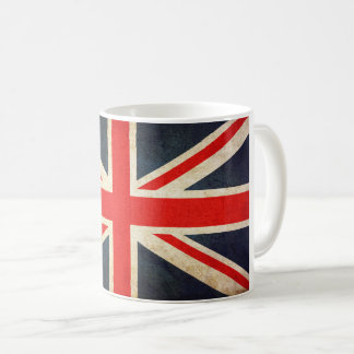 Vintage Union Jack British Flag Ceramic Coffee Mug