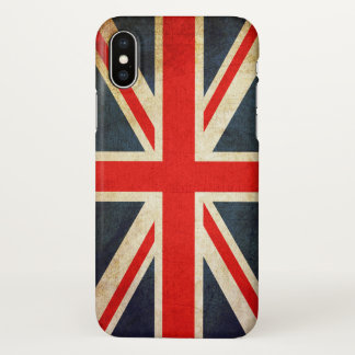 Vintage Union Jack British Flag iPhone X Case