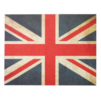Vintage Union Jack British Flag Notepad