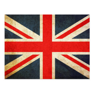 Vintage Union Jack British Flag Postcard
