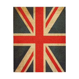 Vintage Union Jack British Flag Wood Photo Print Wood Print