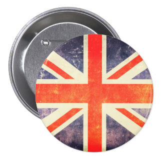 Vintage Union Jack flag 7.5 Cm Round Badge