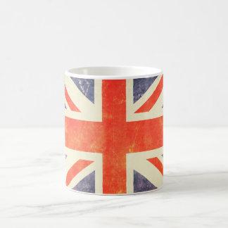 Vintage Union Jack flag Basic White Mug