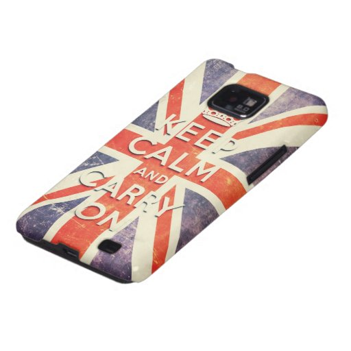 Vintage Union Jack flag keep calm and carry on Samsung Galaxy S Covers