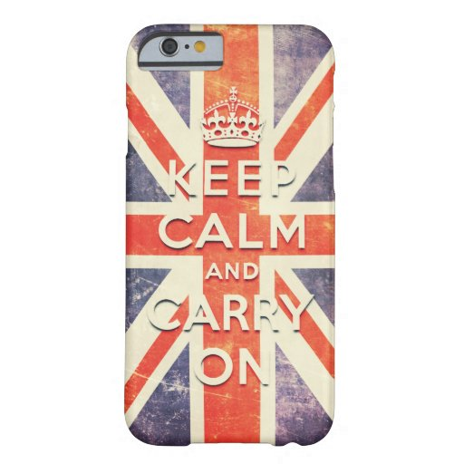 Vintage Union Jack flag keep calm and carry on iPhone 6 Case